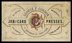 Vintage trade card for Gordon jobber presses.