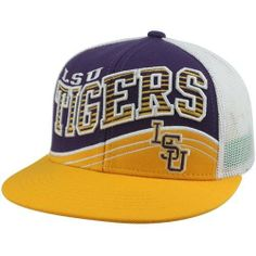 NCAA Top of the World LSU Tigers Electric Slide Snapback Hat - Gold/Purple/White Top of the World. $19.95