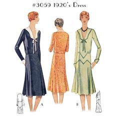 1920s Dress #3059 - Day or Afternoon looks. $9.50 AT vintagedancer.com