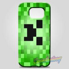 Minecraft Creeper Blue Like A Boss Samsung Galaxy Note 8 Case Case   casefantasy
