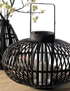 "Add instant drama to your outdoor party with the K&K Interiors Large Lantern. This oversized lantern measures 19""H x 25""D and is perfect for adding light & style to any outdoor scene. #lantern #decor #outdoor"