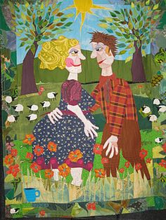 This quilt is by Bodil Gardner- Mary Lou Weidman just admires her great style!