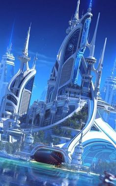 landscaping science fiction ideas city for 18 18 ideas for landscaping city science fiction 18 ideas for landscaping city science fictionYou can find Future city and more on our website Cyberpunk City, Futuristic City, Fantasy City, Fantasy Places, Concept Architecture, Futuristic Architecture, Sustainable Architecture, Architecture Design, Architecture Diagrams