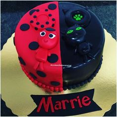 Image result for ladybug and cat noir birthday cake