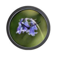 Little Bluebells Wall Clock> Bluebells> Rosemariesw Design Photo Gifts