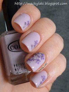 Born Pretty Store Dried Flowers Manicure and Review