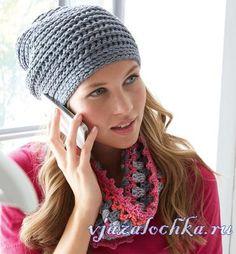 Crochet set of beanie and loop - Stricken Baby Sachen Crochet Beanie, Knitted Hats, Knit Crochet, Crochet Hats, Crochet Gloves Pattern, Knitting Patterns, Basic Crochet Stitches, Pretty Patterns, Baby Knitting