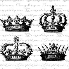 Crowns Crown Royal Queen King Digital Image Download by Graphique
