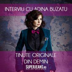 Ce înseamnă originalitate într-o ținută din denim? Adina Buzatu îți răspunde în interviul de pe blog: http://blog.superjeans.ro/2013/04/interviu-cu-adina-buzatu-tinute-originale-din-denim/