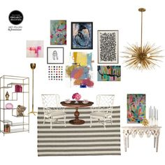 """""""Art-Filled Dining Room"""" by shelby-kotthoff on Polyvore"""