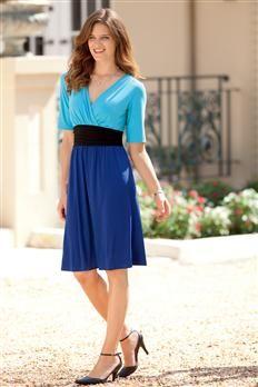 Surplice Colorblock Dress | Chadwicks......I like this one