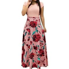 8b1474a675 Daisy Dress For Less Floral Print Women Draped Maxi Dress Floral Print Maxi  Dress