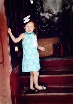 Girls Summer Dress Teal by BBELLECOUTURE on Etsy, $46.95
