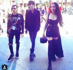 Couldn't pass up reposting this! Too much gorgeous in one pic!! Ash, Nikki, and Nick of New Years Day.