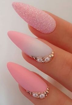 10 Acrylic Nail Designs For You To Impress Everyone – remove acrylic nails Remove Acrylic Nails, Glitter Gel Nails, Pink Nails, Acrylic Nail Designs, Nail Art Designs, Nails Design, Types Of Nails, Fancy Nails, Nail Care