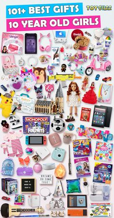 Gifts For 10 Year Old Girls 2019 – List of Best Toys – Presents for girls Christmas Gifts For 10 Year Olds, 10 Year Old Gifts, 10 Year Old Boy, Christmas Gifts For Girls, Christmas Gift Guide, Gifts For Kids, 6 Year Old Toys, Birthday Presents For Girls, 9 Year Old Girl Birthday