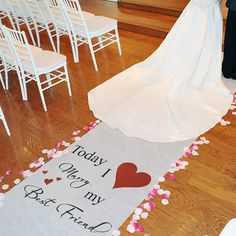 Classic Aisle Runner....our wedding his and hers wedding toast glasses say this