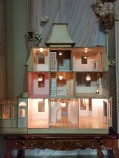 LIGHTS!! - My First Dollhouse - Beacon Hill - Gallery - The Greenleaf Miniature Community