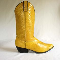 we love our cowboy boots...these mustard yellow ones are fantastic!