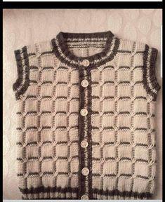 Cross Knit Sweater – Fatma Yaşar – Join the world of pin Kids Knitting Patterns, Knitting For Kids, Knitting Designs, Knitted Baby Cardigan, Knit Baby Sweaters, Knitted Hats, Crochet For Boys, Crochet Baby, Baby Vest