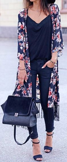 47 Summer Style for Women And How to Wear. Floral Cardigan OutfitLong Kimono  ... 8d924573e