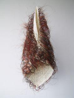 Weaving horsehair | 2002 | design by Marianne Kemp Textile Design, Textile Art, Fabric Design, Textile Sculpture, Soft Sculpture, Weaving Textiles, Weaving Art, Creative Textiles, Cute Little Things