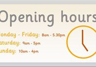 10 best opening hours sign images on pinterest kiosk shop windows