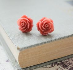 Hey, I found this really awesome Etsy listing at http://www.etsy.com/listing/93284714/coral-rose-earrings-salmon-pink-rose