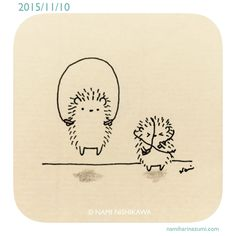 And I... I am most definitely the hedgehog on the right!!!