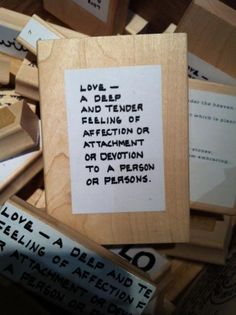Love is .......a rubber stamp