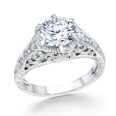 Whitehouse Brothers Vintage Engagement Ring with 1.75ct Diamond Center