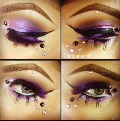 """Fairy makeup with Bling!  (possibility for Mira's costume - """"Dark Fairy"""")"""