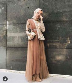Kebaya Hijab, Kebaya Dress, Kebaya Muslim, Hijab Evening Dress, Hijab Dress Party, Hijab Style Dress, Kebaya Modern Dress, Dress Brokat Modern, Dress Brukat