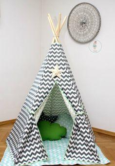 #pacztipi #pacz #teepee #tipi #wigwam #tent #crochet #pillows #stars #clouds #radosnafabryka #handmade Maila, Hanging Chair, Cotton Fabric, Toddler Bed, Furniture, Home Decor, Birth, Children, Homemade Home Decor