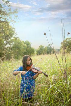 Outdoor Violin Portrait Photography
