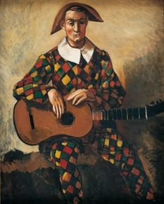 André Derain (French, 1880 - 1954) - Harlequin, 1923 Matisse, André Derain, Clown Paintings, Statues, Harlequin Pattern, Henri Rousseau, Send In The Clowns, Paul Cezanne, Art Graphique