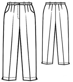 Free PDF sewing pattern for pleated pants.