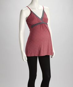 Take a look at the Belabumbum Coral Before & After Maternity & Nursing Camisole on #zulily today!