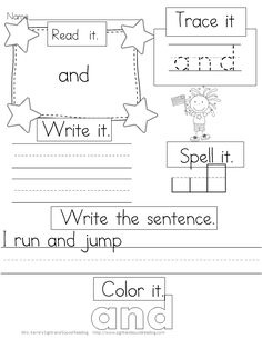 Sight Words for Preschoolers - Dolch bundle pre-primer sample pack: 15 pages included, 3 pages/sight word: big, blue, a, away, and