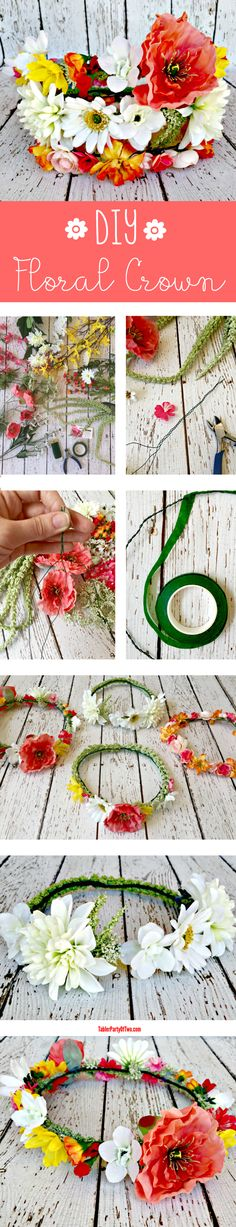 DIY Floral Crown... so pretty for weddings and festivals!