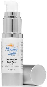 """Best Eye Cream - Intensive Eye Gel for Dark Circles and Puffiness - with Vitamin C - Anti-Aging Complex Fights Against Tired Looking Eyes - Effective for Fine Wrinkles and for Puffy Eyes - You Can Wake Up with that """"Morning Light Glow"""""""