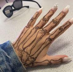 42 Tattoo, Piercing Tattoo, Tattoo Drawings, Bone Hand Tattoo, Drawings On Hands, Henna Hand Tattoos, Skeleton Hands Drawing, Unique Hand Tattoos, Cute Hand Tattoos