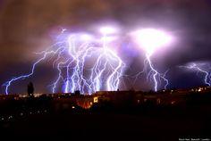 Lightening during storm in Albuquerque, NM