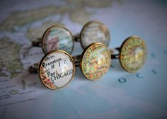 Custom MAP RING / Adjustable  / You Pick The Location / Any