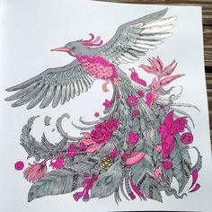from Kerby Rosanes ANIMORPHIA (colored with gel, glitter, flourescent markers by Michele Hauf)