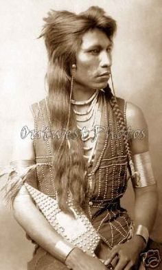 "1890'S PHOTO ""RABBIT TAIL"" SHOSHONE NATIVE AMERICAN INDIAN  -  U.S. ARMY SCOUT"