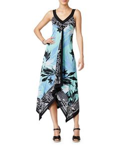 Petite Petite Printed Handkerchief-Hem Maxi Dress | Hudson's Bay
