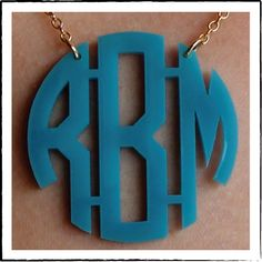 Acrylic Necklace : Personalized Gifts - Preppy Monogrammed Gifts @ 2PreppyGirls.com