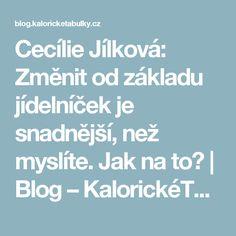Cecílie Jílková: Změnit od základu jídelníček je snadnější, než myslíte. Jak na to?   Blog – KalorickéTabulky.cz