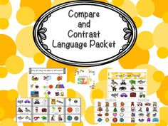 This packet contains two activities to target comparing and contrasting. The…